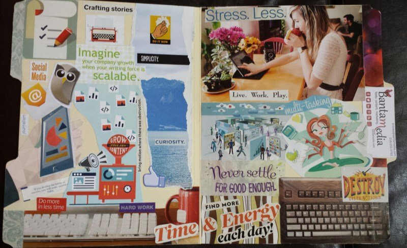 vision board business vision folder