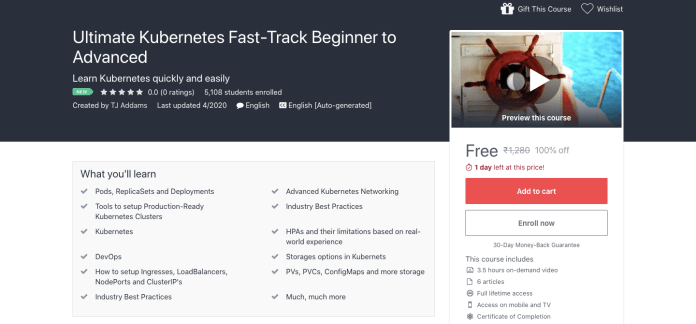 Free Ultimate Kubernetes Certification Course