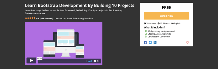 Learn Bootstrap Development By Building 10 Projects Certification Course