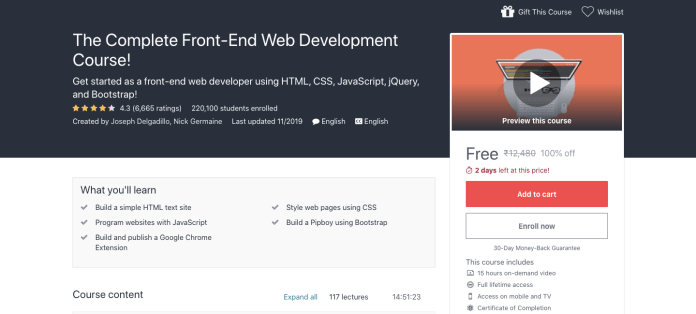 The Complete Front-End Web Development Course