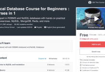 Practical Database Course for Beginners : 6 courses in 1