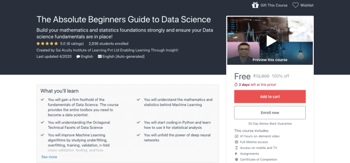 The Absolute Beginners Guide to Data Science