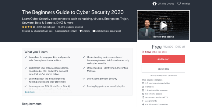The Beginners Guide to Cyber Security 2020