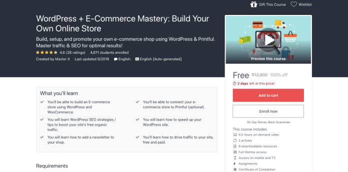 WordPress + E-Commerce Mastery: Build Your Own Online Store