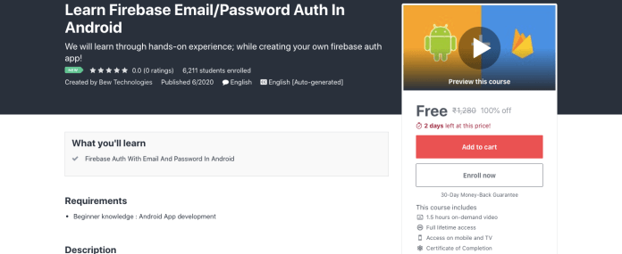 Learn Firebase Email/Password Auth In Android