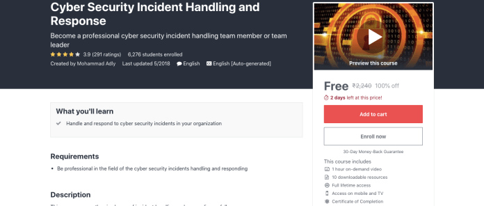 Cyber Security Incident Handling and Response