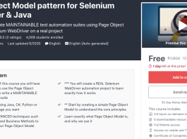 Page Object Model pattern for Selenium WebDriver & Java