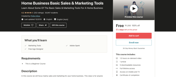 Home Business Basic Sales & Marketing Tools