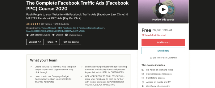 The Complete Facebook Traffic Ads (Facebook PPC) Course 2020