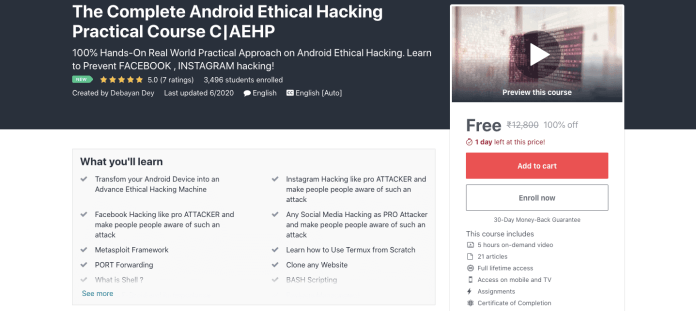 The Complete Android Ethical Hacking Practical Course C|AEHP