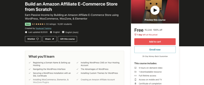 Build an Amazon Affiliate E-Commerce Store from Scratch
