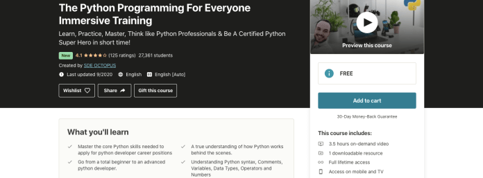 The Python Programming For Everyone Immersive Training