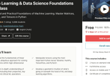 Machine Learning & Data Science Foundations Masterclass