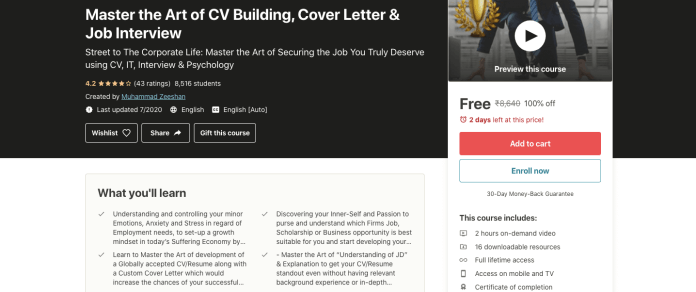 Master the Art of CV Building, Cover Letter & Job Interview