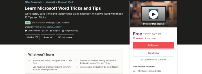 Learn Microsoft Word Tricks and Tips