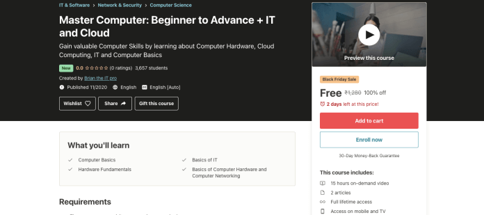Master Computer: Beginner to Advance + IT and Cloud