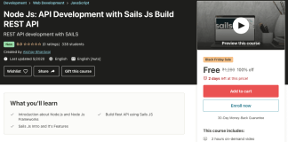 Node Js: API Development with Sails Js Build REST API