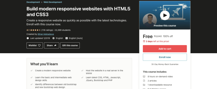 Build modern responsive websites with HTML5 and CSS3