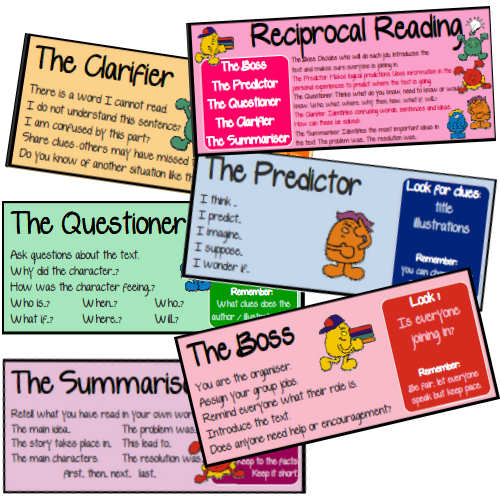 Reciprocal Reading Prompt Cards