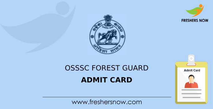 The ministry of the interior has issued a decree amending the cost of an identity card. Osssc Forest Guard Admit Card 2021 Odisha Forest Guard Exam Date