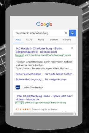 booking com bezahlte suche mobil adwords digitales tourismus marketing