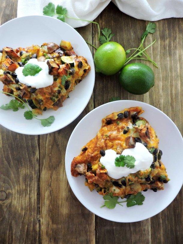 Layered Roasted Vegetable Enchiladas