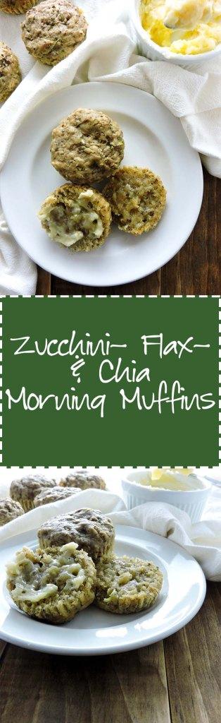 Zucchini Flax Chia Morning Muffins