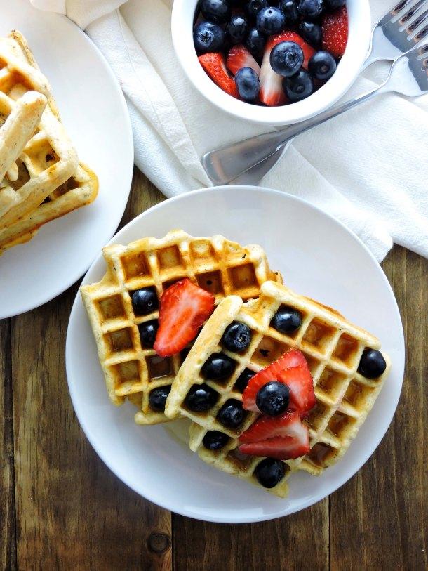 Easy Healthful Cinnamon Flax Vanilla Waffles