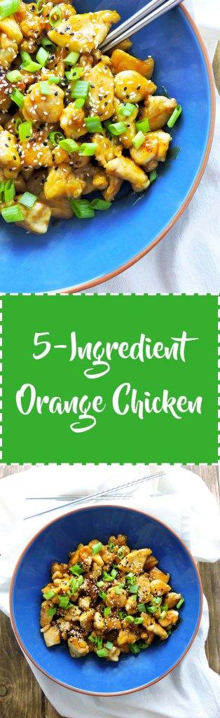 5 ingredient healthier orange chicken