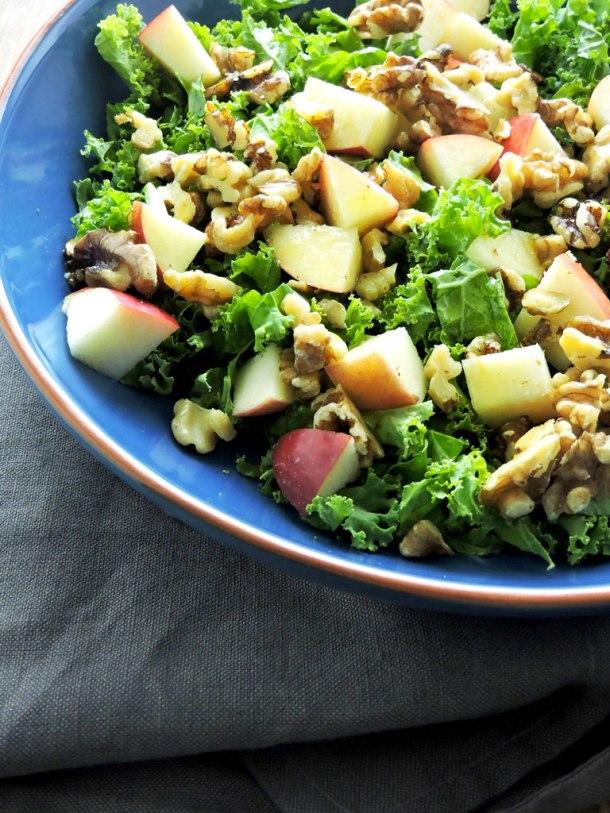 Kale Apple and Walnut Salad