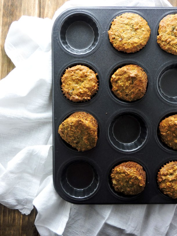 Oatmeal Chia Protein Muffins