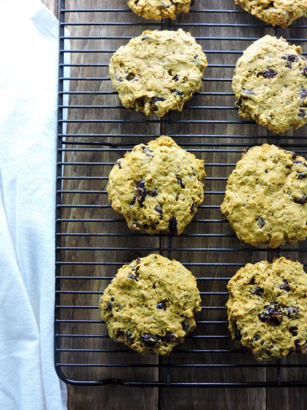 Pumpkin Chocolate Chip Monster Cookies