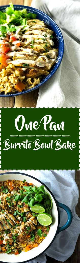 One Pan Burrito Bowl Bake