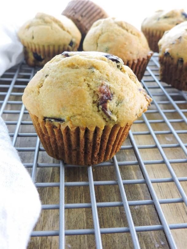 Cranberry Orange Whole Grain Muffins