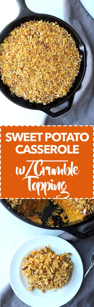 Crumble Topped Sweet Potato Casserole