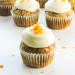 Carrot Cupcakes with Orange Cream Cheese Frosting
