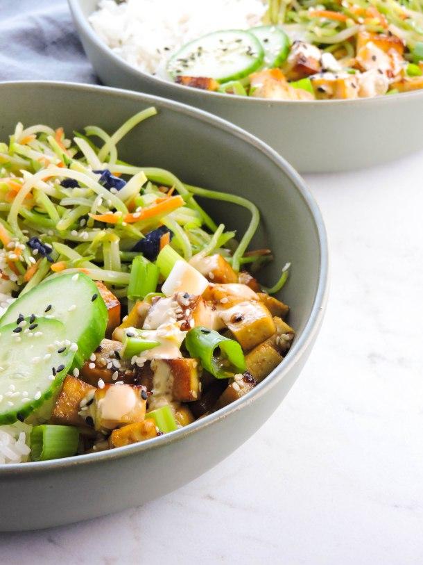 Sesame Soy Tofu Bowls