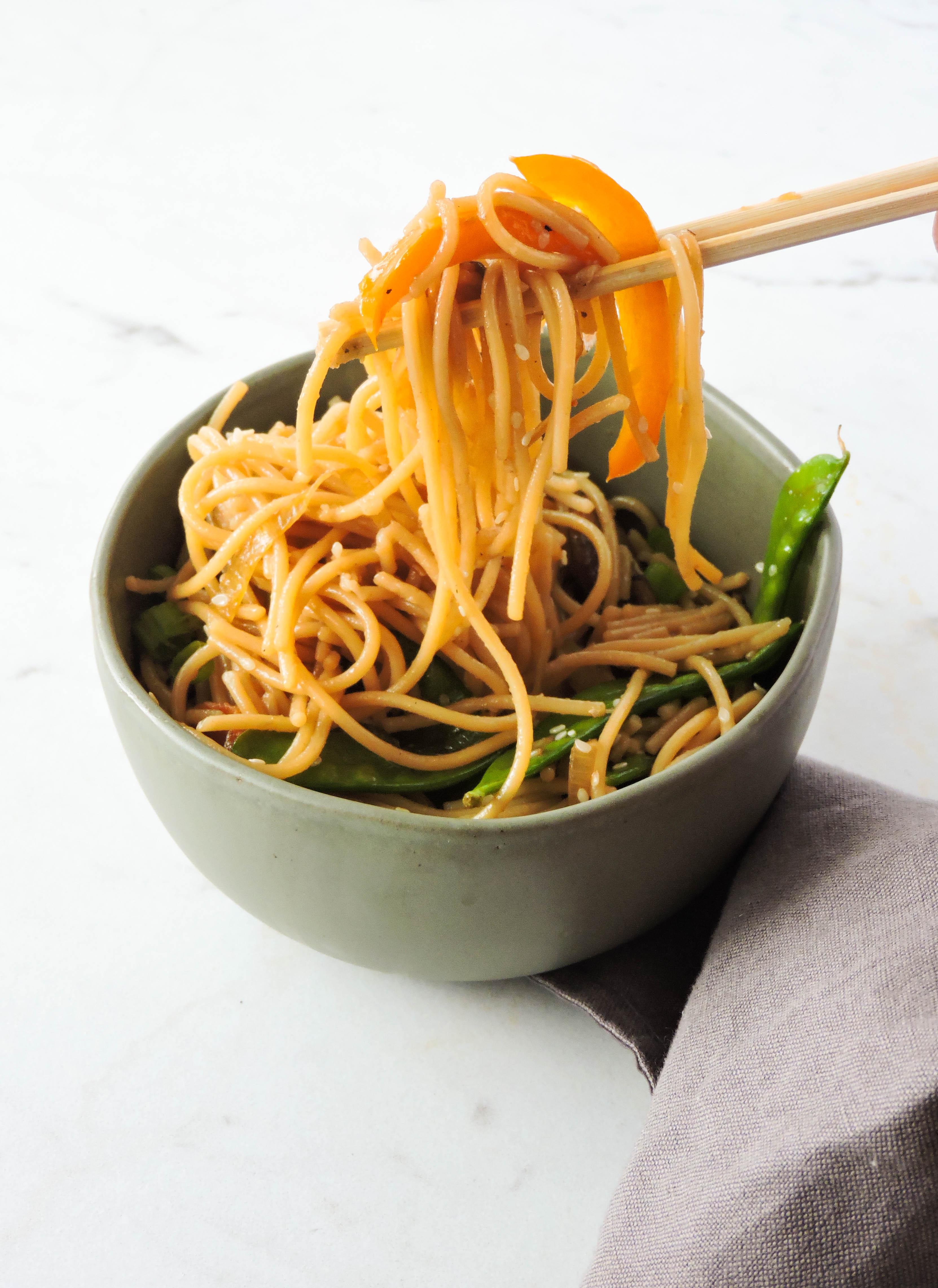 Gluten Free Chinese Lo Mein Recipe Fresh Fit Kitchen