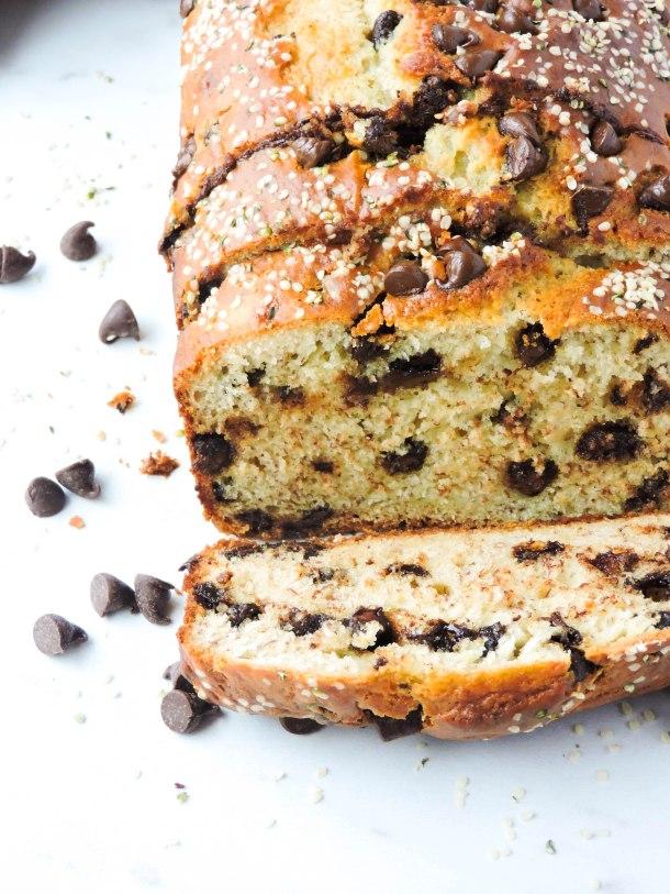 Chocolate Chip Greek Yogurt Banana Bread