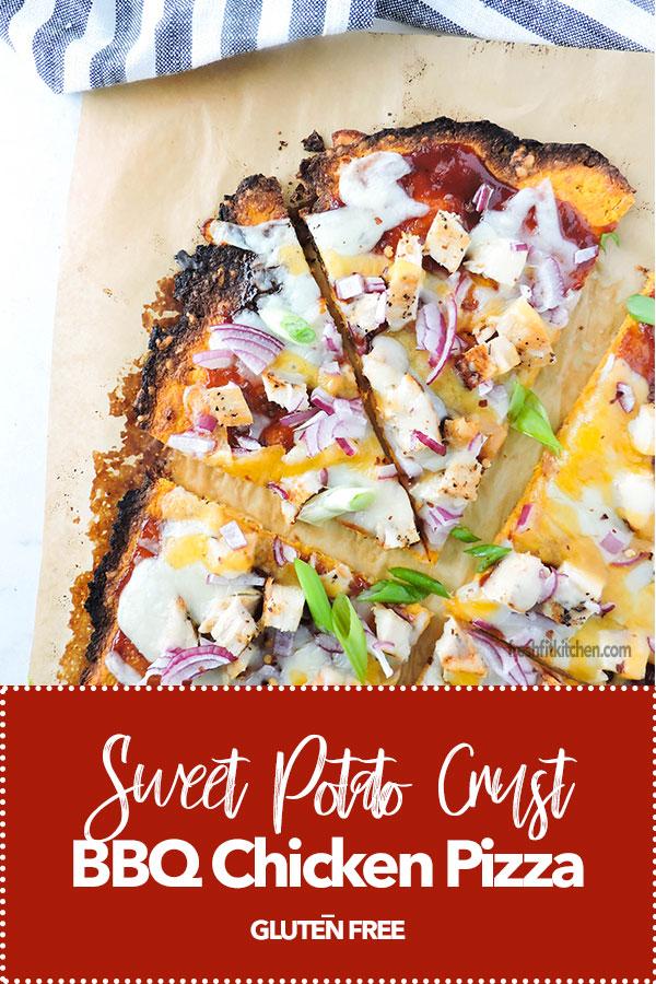 Sweet Potato Crust Barbecue Chicken Pizza