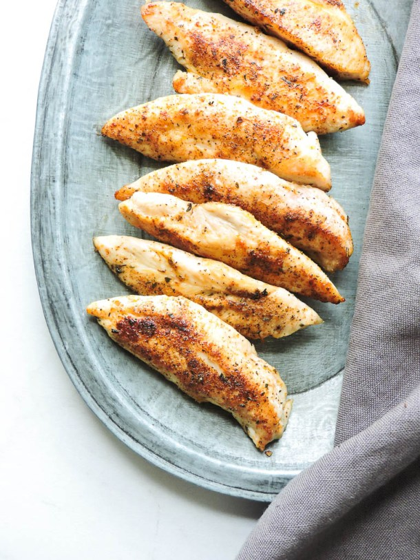 7 Minute Easy Healthy Pan Fried Chicken Tenders