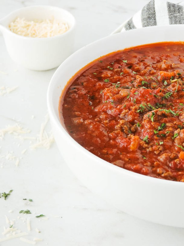 Quick Healthy Bolognese