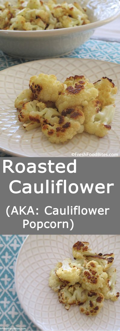Roasted Cauliflower is a quick and easy side dish that goes well with many other foods and works not only for weeknight meals, but also for fancy weekend dinner parties. Cauliflower takes on the most amazing toasted flavor when it's roasted, which makes it taste a bit like popcorn. Try it to see for yourself!