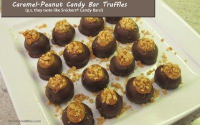 Caramel-Peanut Candy Bar Truffles