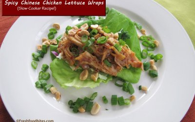 Spicy Chinese Chicken Lettuce Wraps