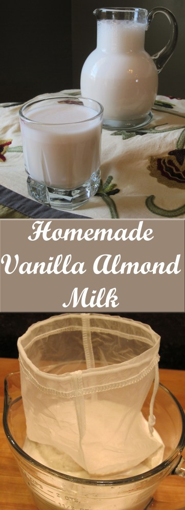 Creamy, naturally sweetened homemade vanilla almond milk is worth every minute it takes to make. It's sweetened with dates (a fruit) so you can feel good about drinking this, whether you have it alone or mixed with your morning coffee or in a smoothie or milkshake. Yum!