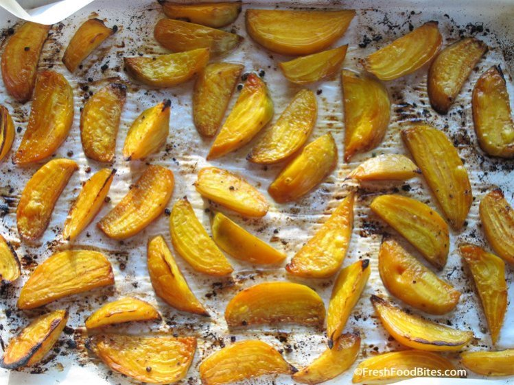 These Caramelized Roasted Beets will win over anyone who claims to not like beets. They taste like candied beets but there's not a lick of sugar on them!