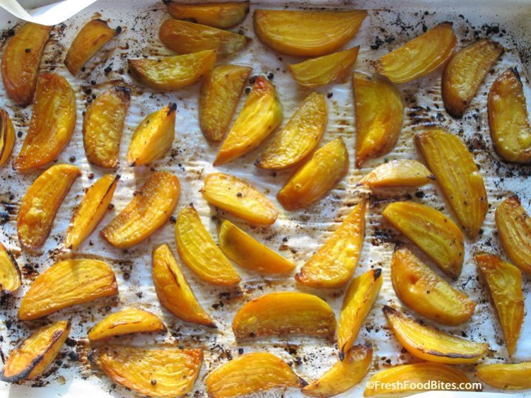 Beautiful on the inside and outside, these Caramelized Roasted Beets will knock your taste buds off. They are kid-friendly, fancy enough to serve guests, and super simple to make.
