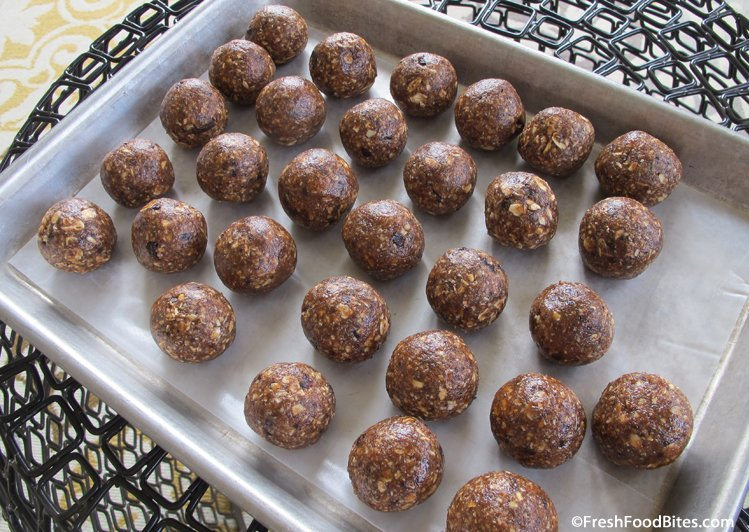 Chocolate, peanut butter and honey combine for a sweet treat that's loaded with nutrition. Kids love these chocolate energy bites for a quick, healthy snack.