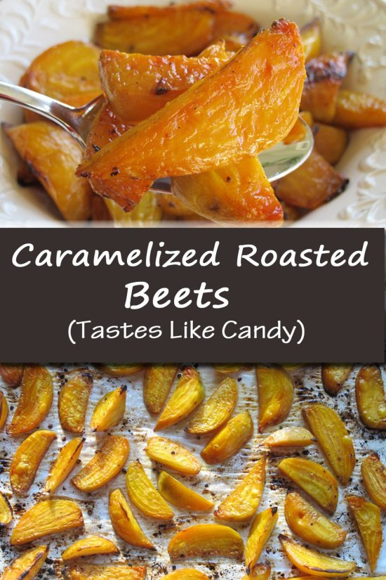 With only 4 simple ingredients, you can make these Caramelized Roasted Beets, that taste like candy but have no sugar added. They are super quick and easy to make, and will win over anyone who claims they don't like beets. Give them a try next time you want a different vegetable for dinner, or when you want to impress your dinner guests with a sophisticated side dish.